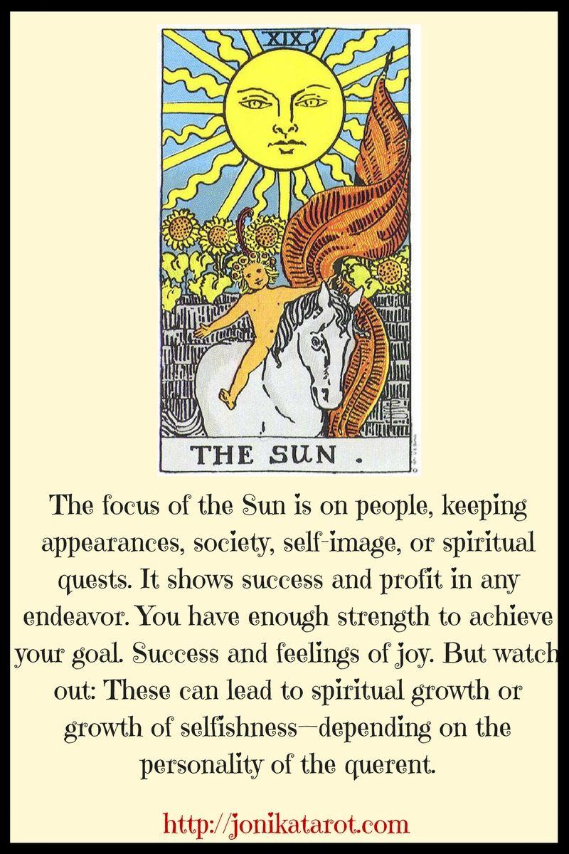 the sun tarot card interpretations
