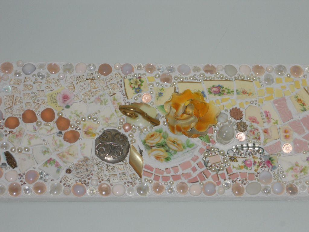 Yellow Rose Plaque 2008 Mosaic