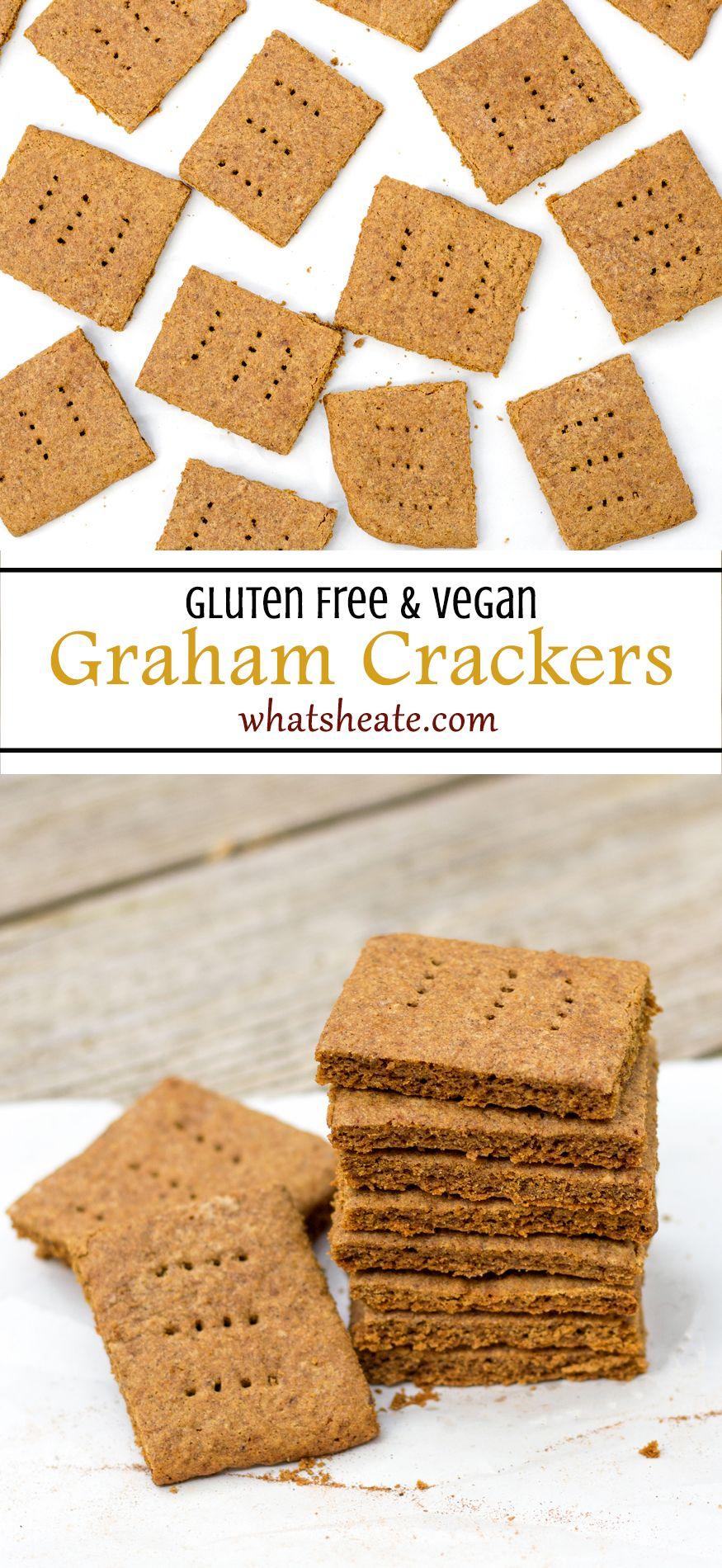 Gluten free vegan graham crackers sweetened with coconut