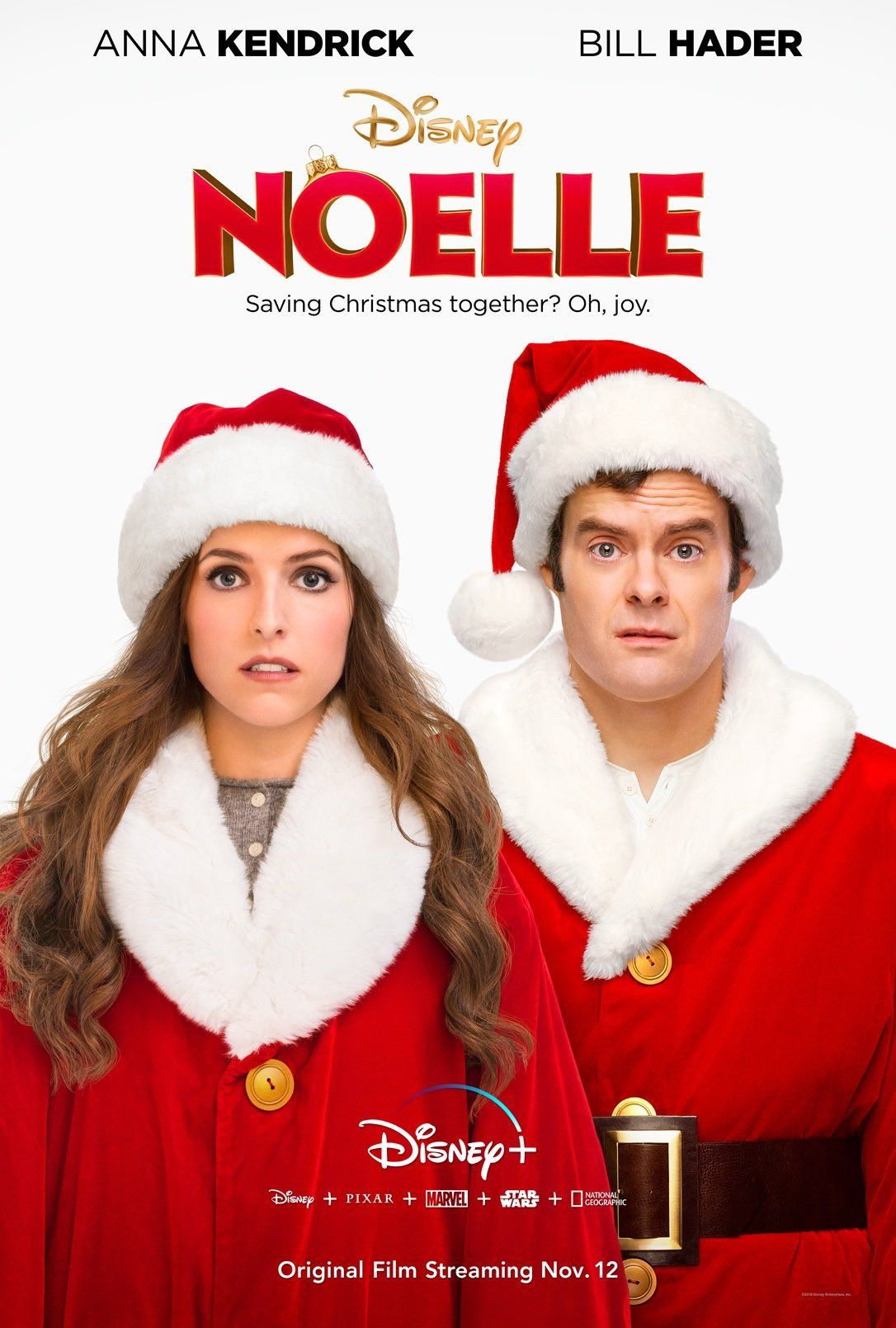 Poster For Anna Kendrick And Bill Hader Christmas Movie Noelle Streaming On Disney On November 12thhttps Disney Christmas Movies Anna Kendrick Disney Plus