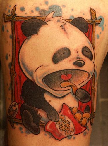 Panda Tattoo photo by krustytattoo from Flickr at Lurvely