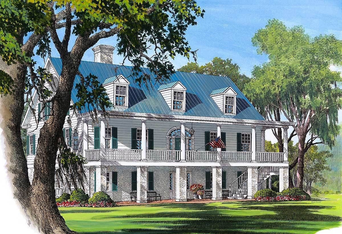 Plan 32482WP Southern Breezes Colonial house plans