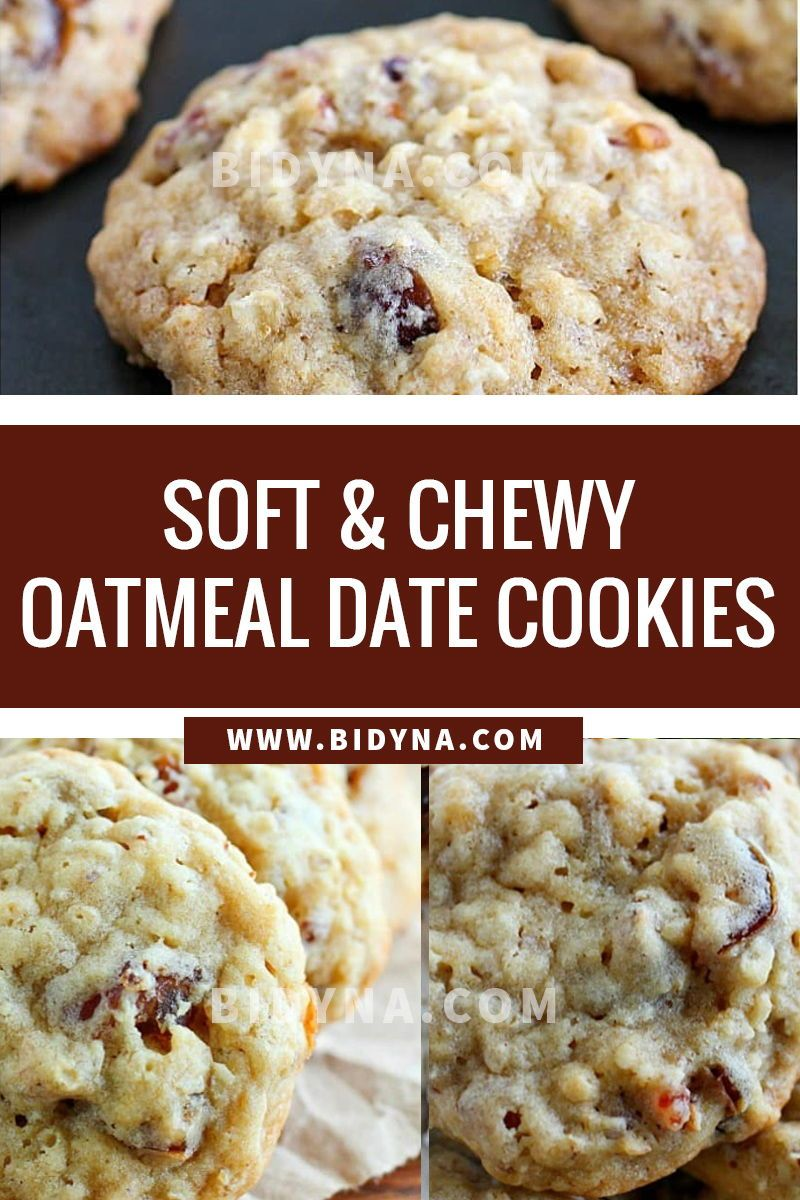 Soft Chewy Oatmeal Date Cookies In 2020 Raw Dog Food Recipes Date Cookies Easy Food To Make