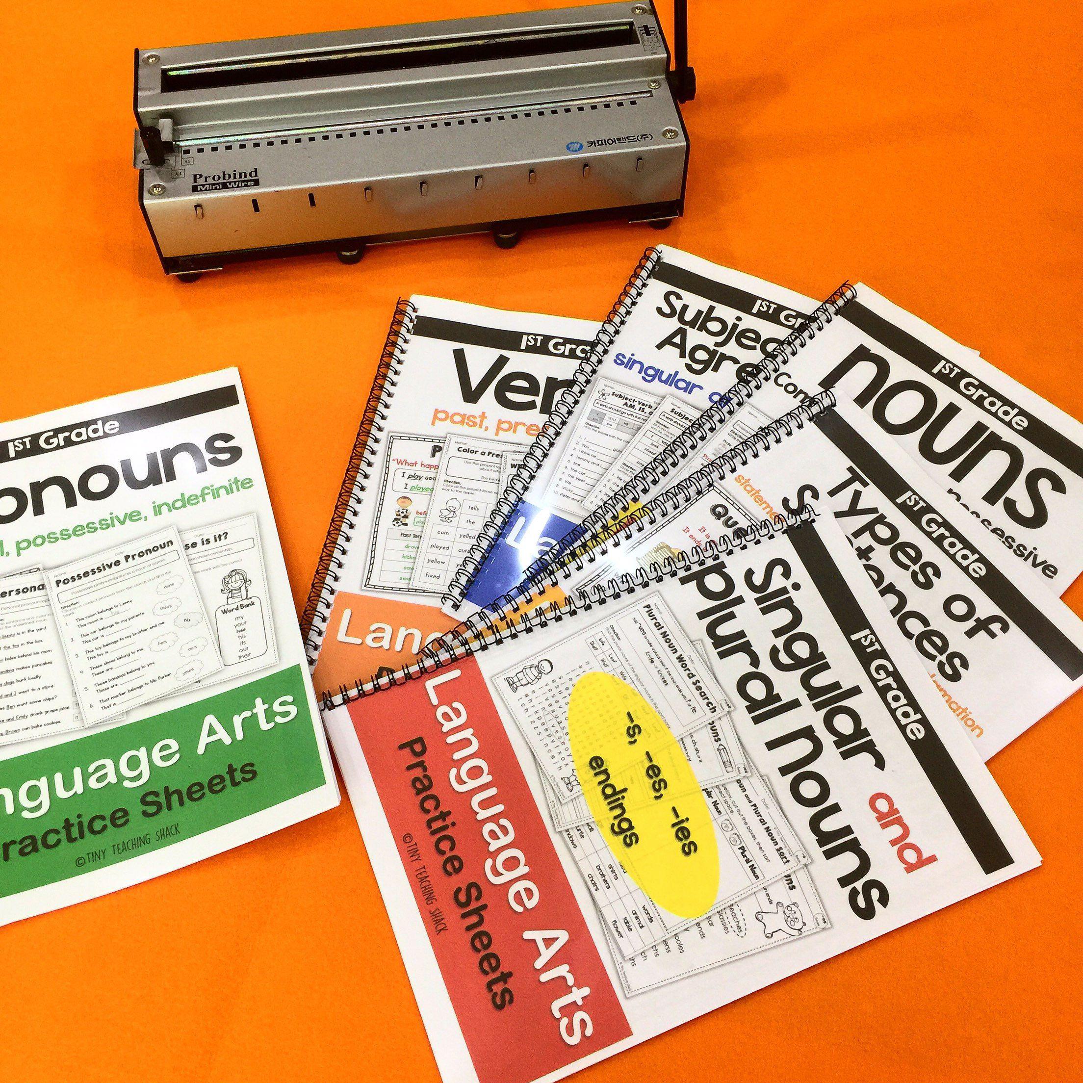 First Grade Language Arts No Prep Printables Mega Bundle
