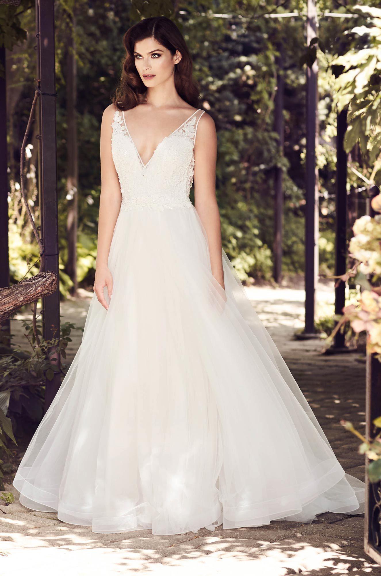 Aline tulle wedding dress style paloma blanca wedding