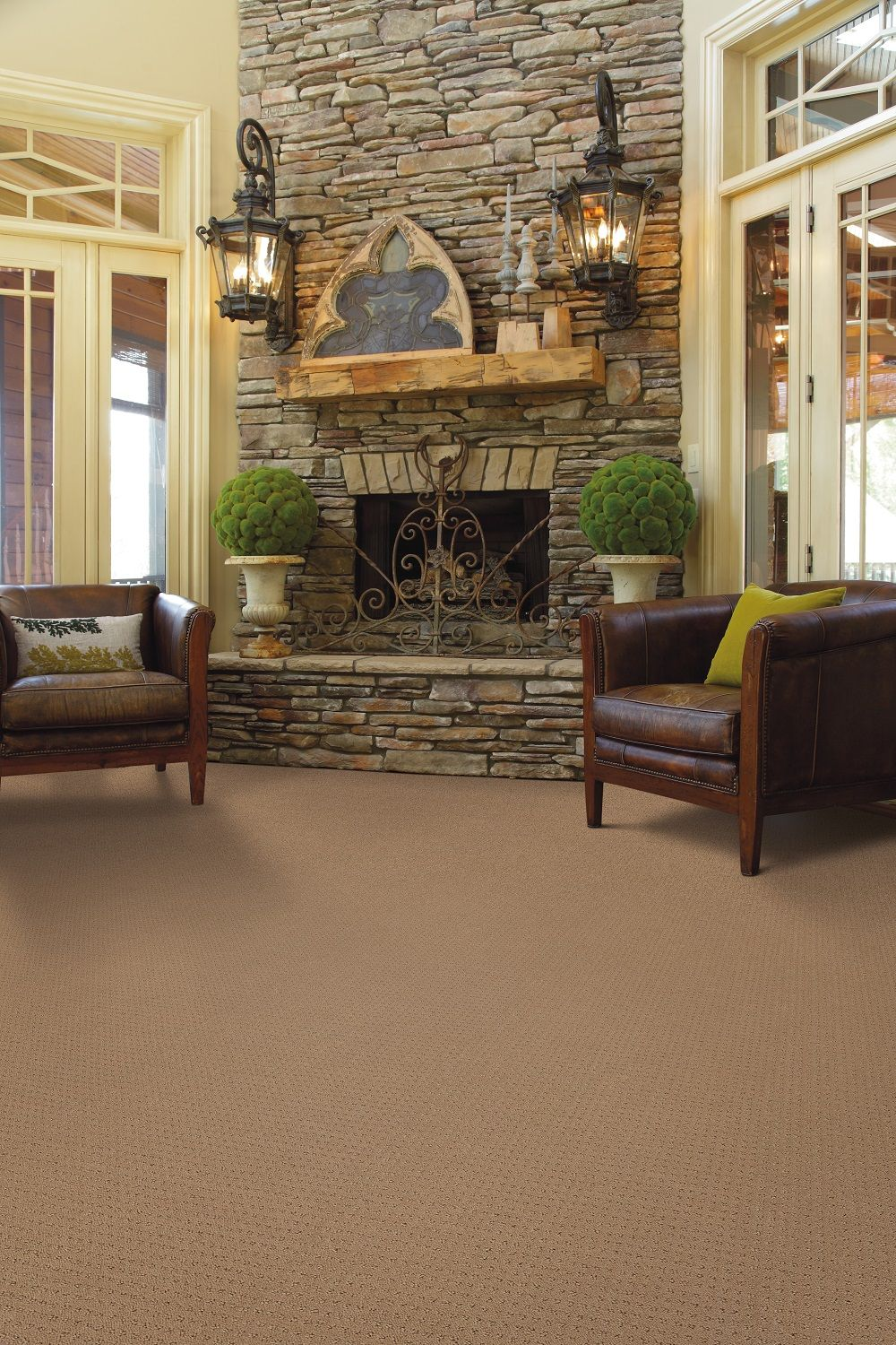 Is this Shaw carpet the perfect color for your man cave