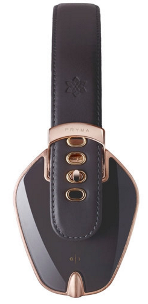 ROSE GOLD & DARK GREY LEATHER HEADPHONES