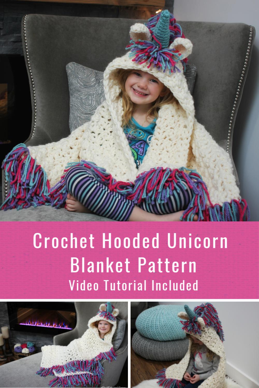 Hooded Unicorn Blanket | Crochet designs, Crochet, Crochet ...