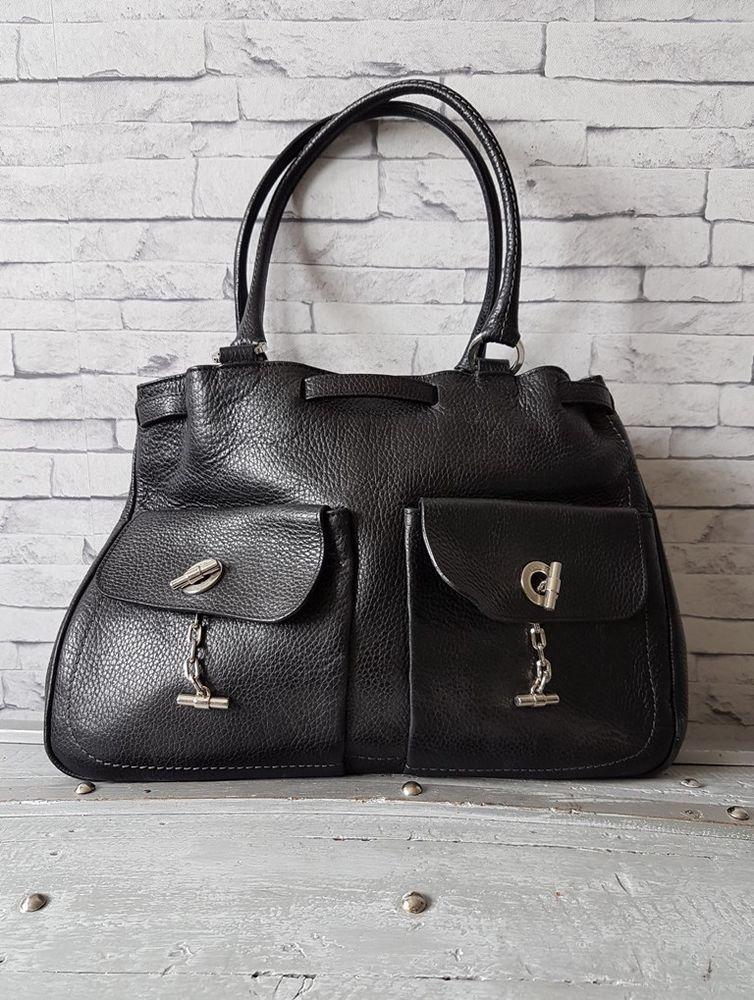 b598b548c9 Sac à main Lamarthe Cuir Grainé Noir | #handbag | Pinterest | eBay