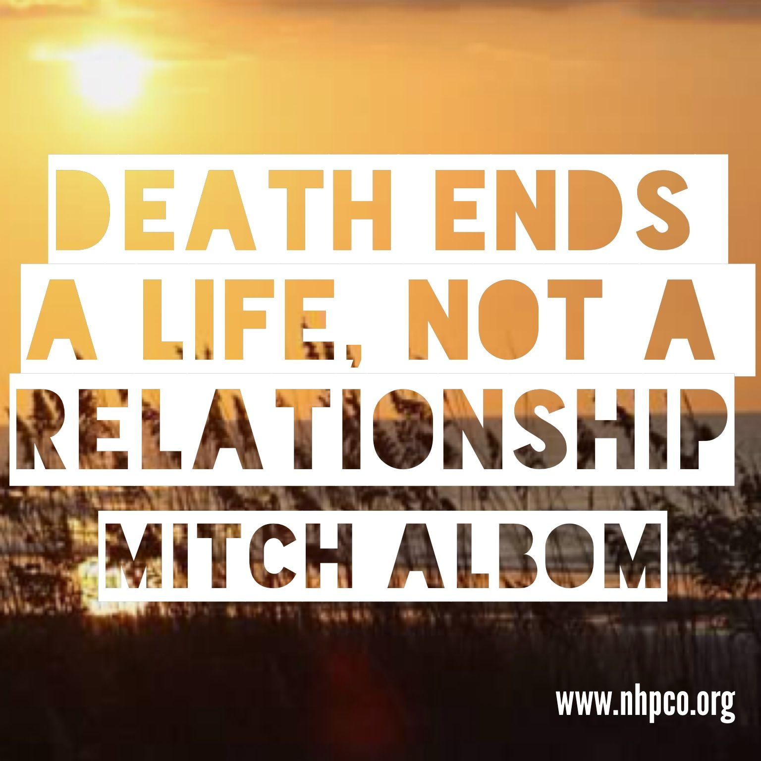 """Loss Of Life Quotes Death Ends A Life Not A Relationship""""  Tuesdays With Morrie"""