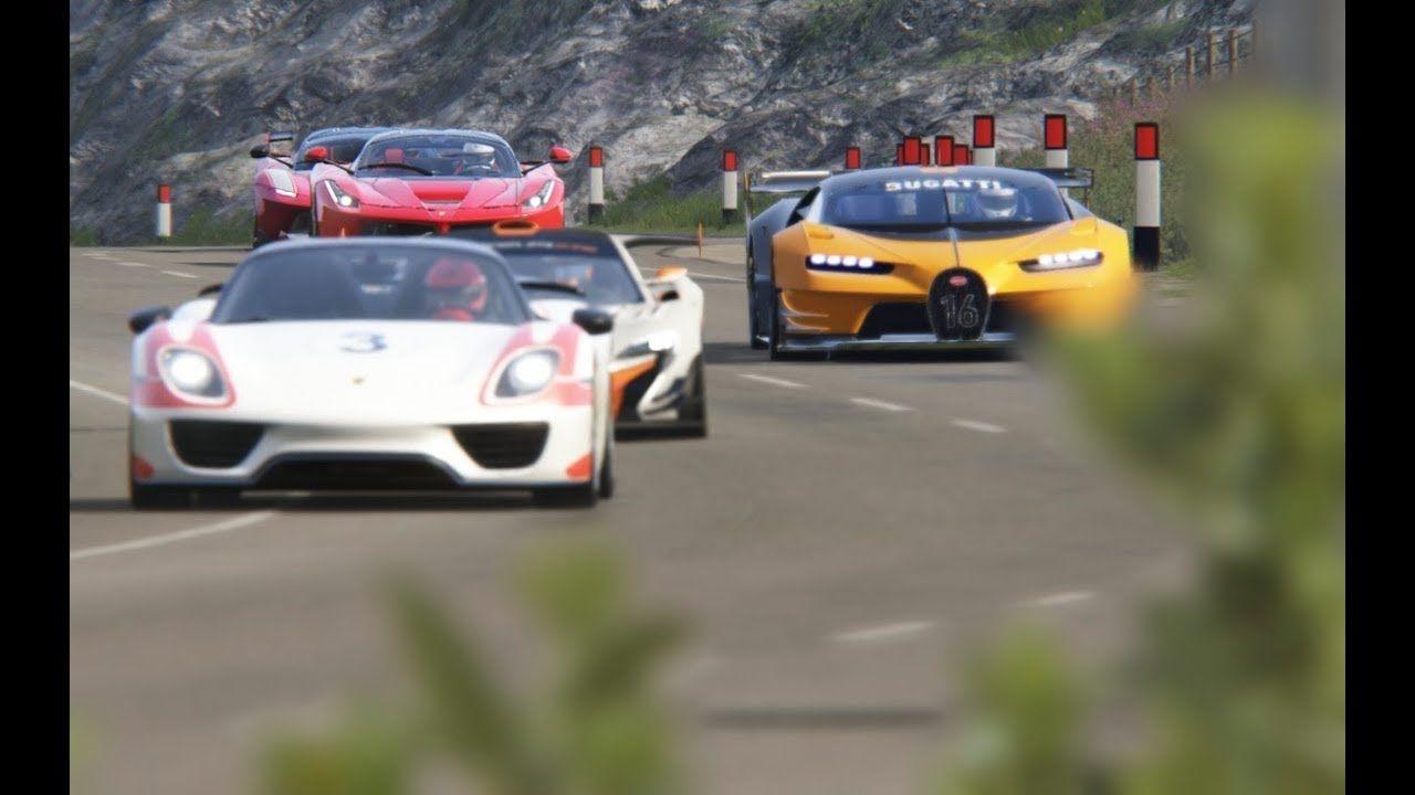 Bugatti Vision GT vs McLaren P1 GTR vs Ferrari FXX-K vs Bugatti Chiron #ferrarifxx