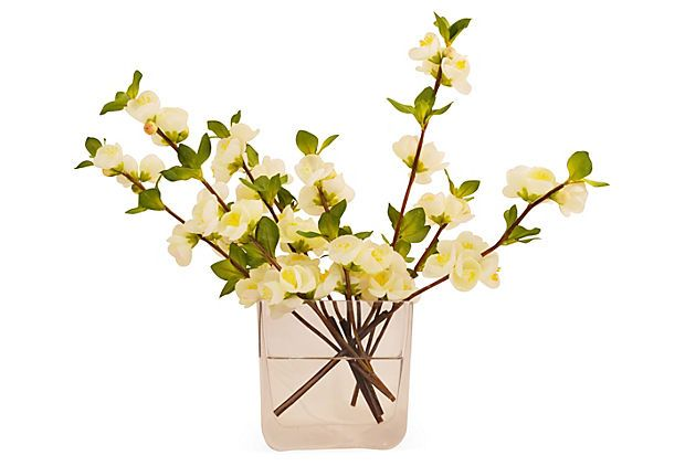 "17"" Quince Blossom in Vase, Faux on OneKingsLane.com"