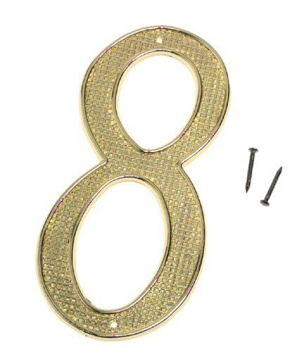 House Numbers Finish Brass Numbers 8 By Stanley 8 57 579956 Signs Address Numbers Stanley Tools From The Manufacturer Brass House No