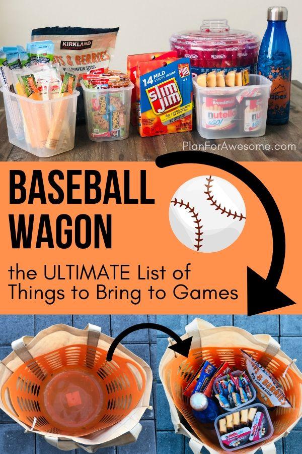 Baseball Mom Wagon The Ultimate List Of Things To Bring On Game Day Baseball Tips Baseball Tournament Baseball Snacks