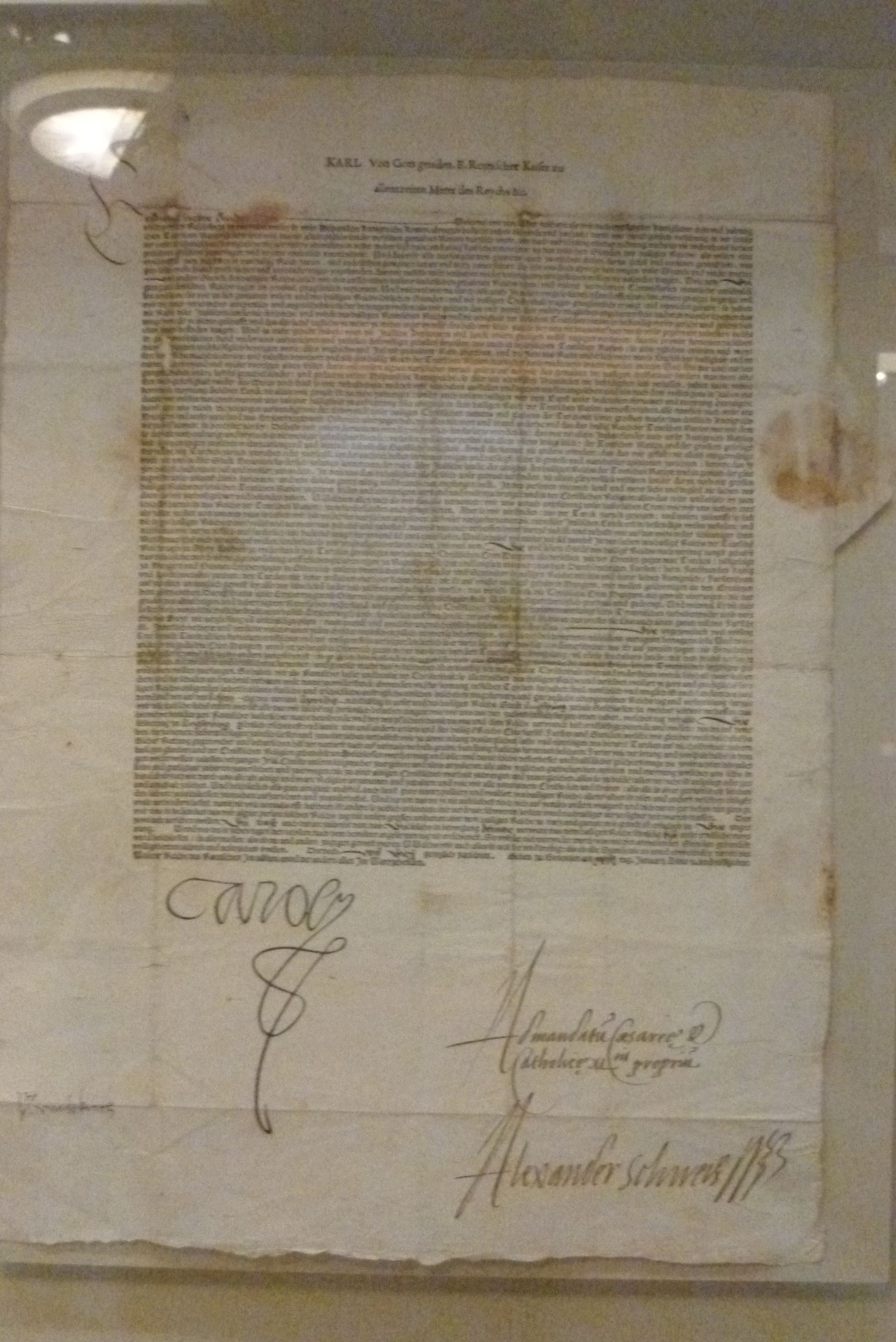 The Augsburg Confession. Wittenberg 1551. (Deutsche Historisches Museum)