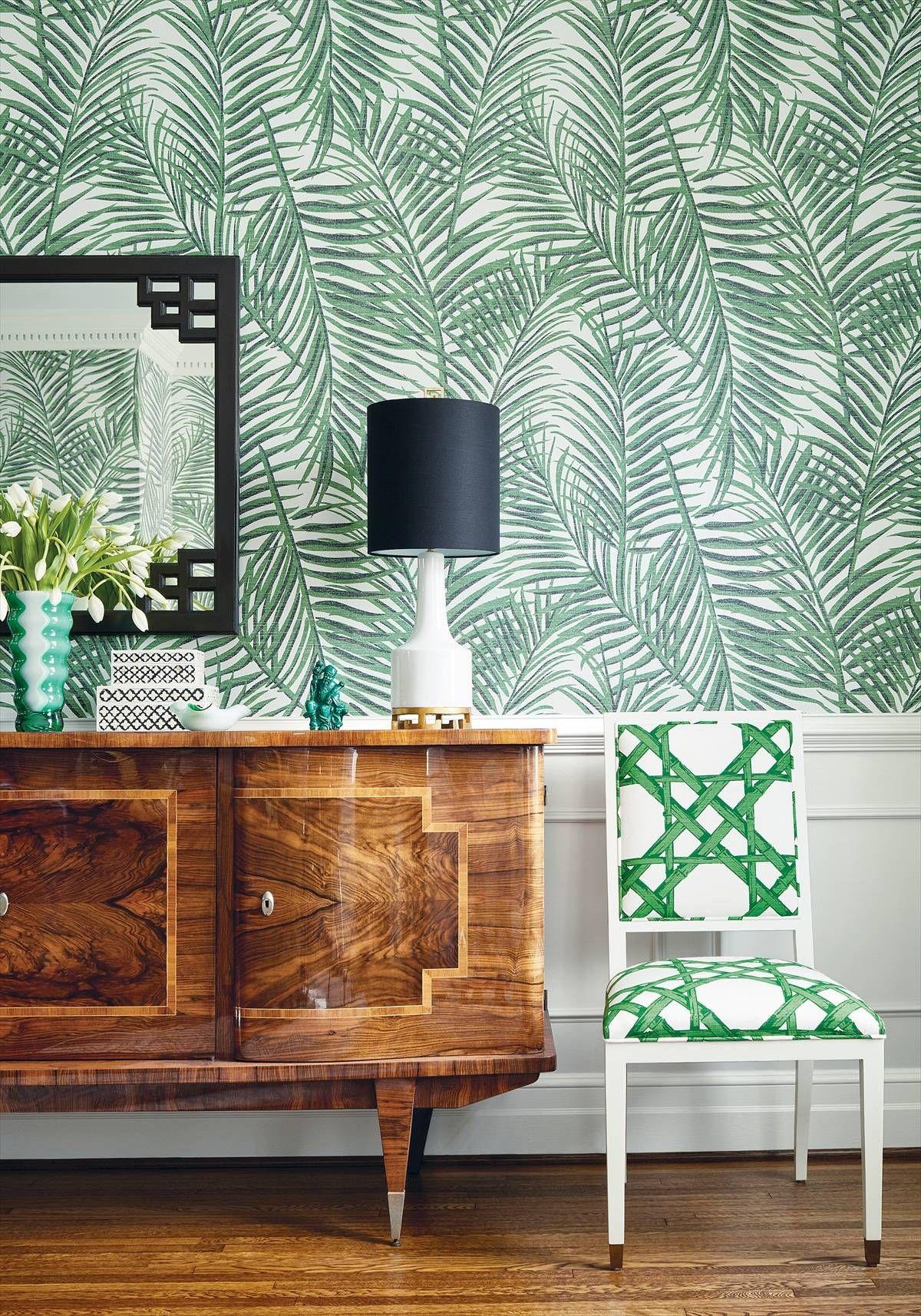 Thibaut West Palm Emerald Green Wallpaper 839T13117