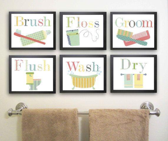 Pick Four 11x14 Bathroom Art Prints