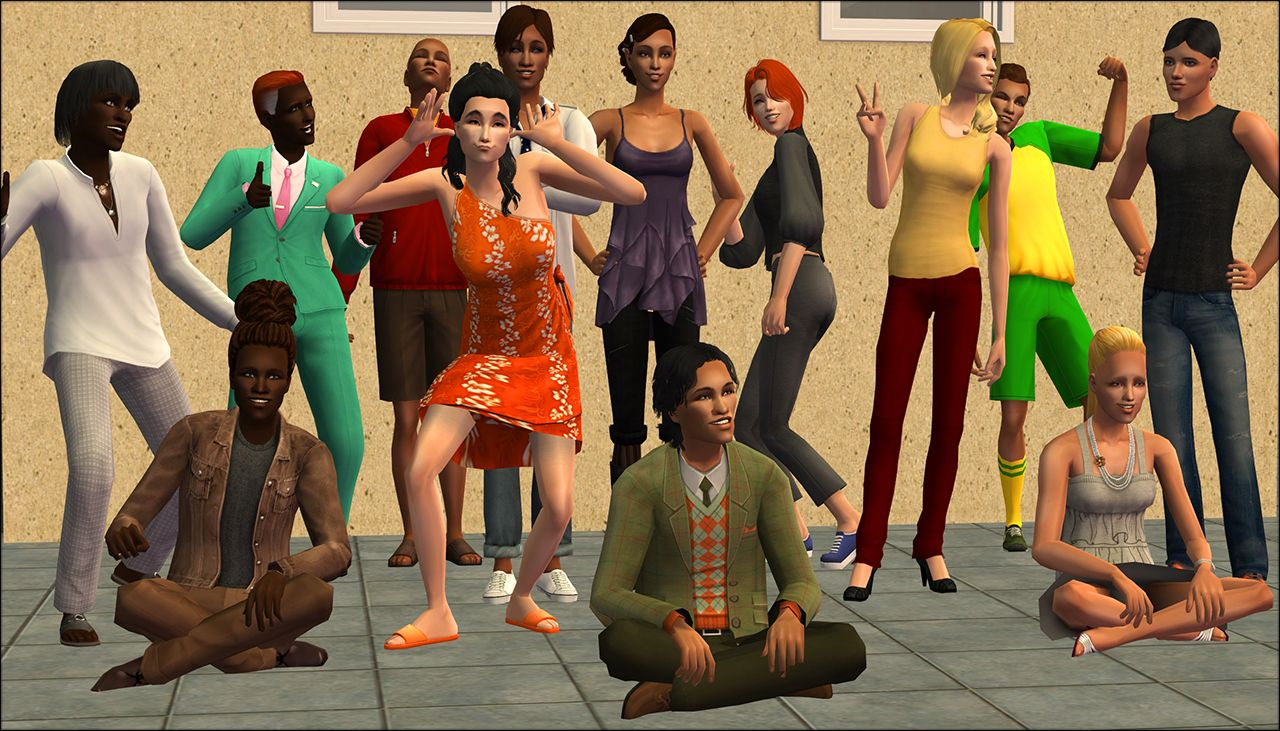 Mod The Sims - Townie Body Diversity - The Sims 2 | The Sims 2 Mods