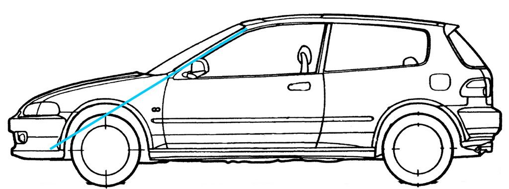 How To Draw A 2010 Honda Civuic How To Draw Honda Civic Eg