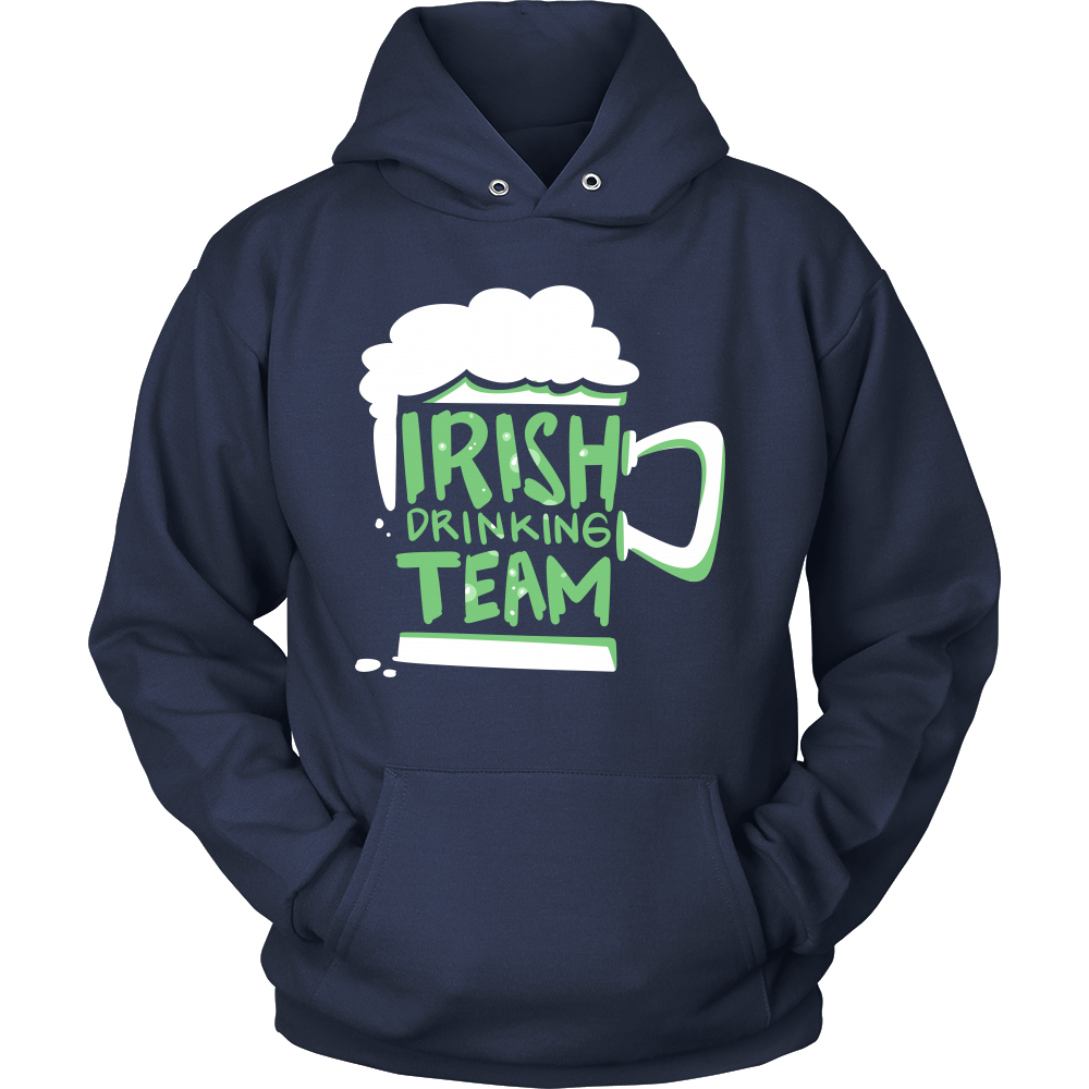 Irish Drinking Team Green And White Drinking Hoodie
