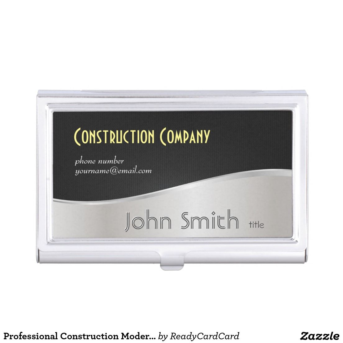 Professional Construction Modern Black and Silver Case For ...