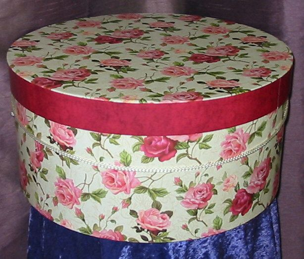 Round Decorative Boxes Magnificent Round Hat Box Dark Pinks  Think ԹίภƘ♥༺♥༺♥  Pinterest  Hat Decorating Design