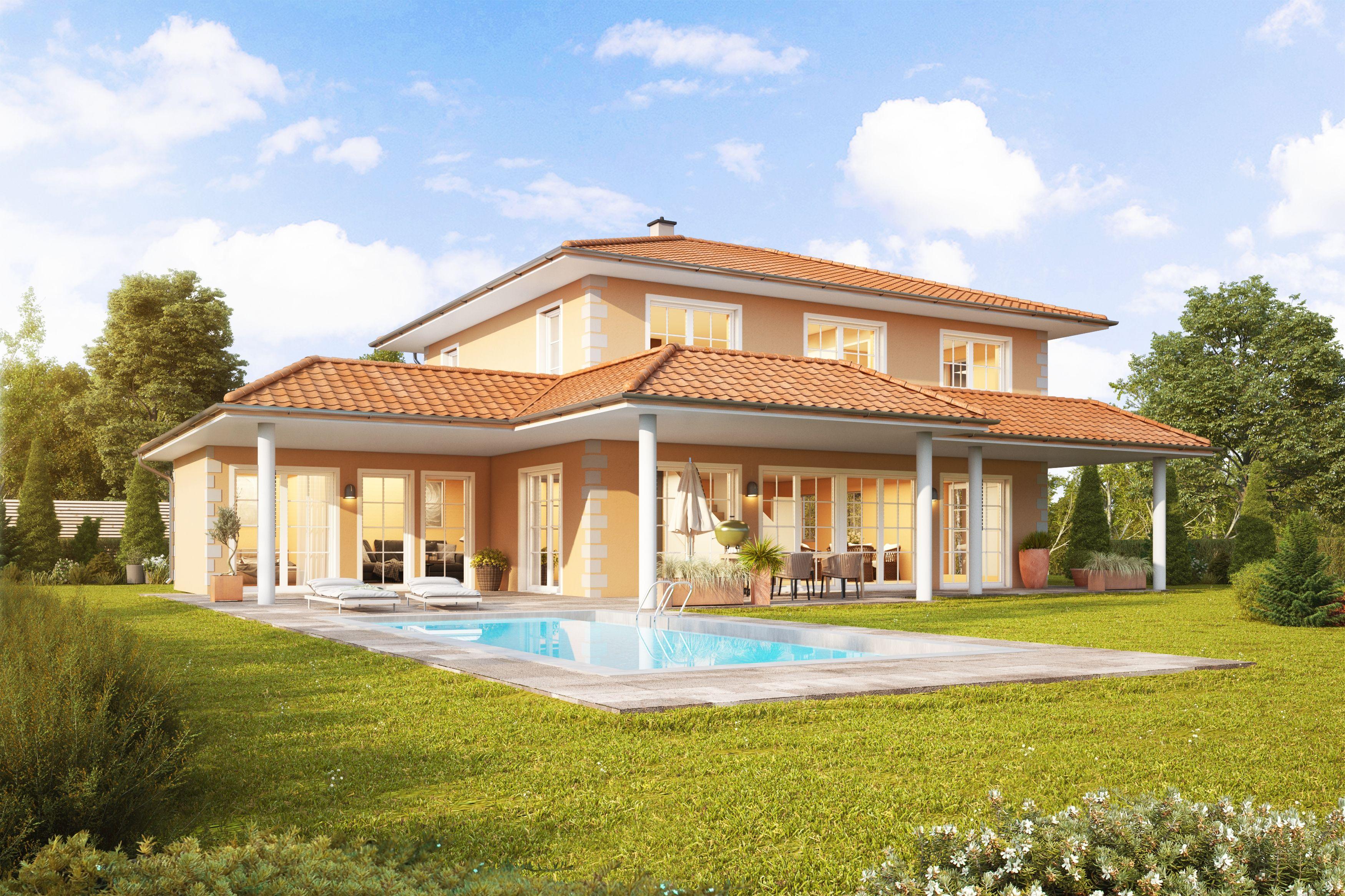Kotz Haus Ziegelmassiv Und Schlusselfertig Haus Haus Hanglage Gartenhaus Mit Veranda