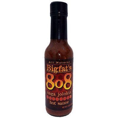 Bigfat's 8o8 Naga Jolokia Hot Sauce