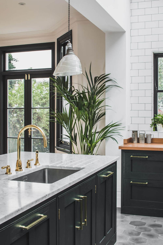 Dark Green Shaker Kitchen Sustainable Kitchens Kitchen Sink Design Dark Green Kitchen Green Kitchen Island