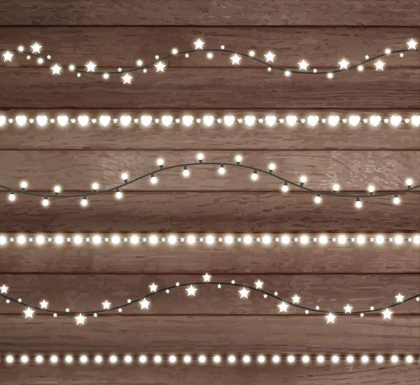 String Of Lights Vector