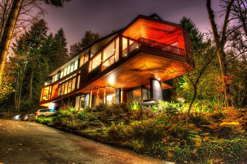 The Hoke House Chris Ocean Photography Twilight House Forest House House In The Woods