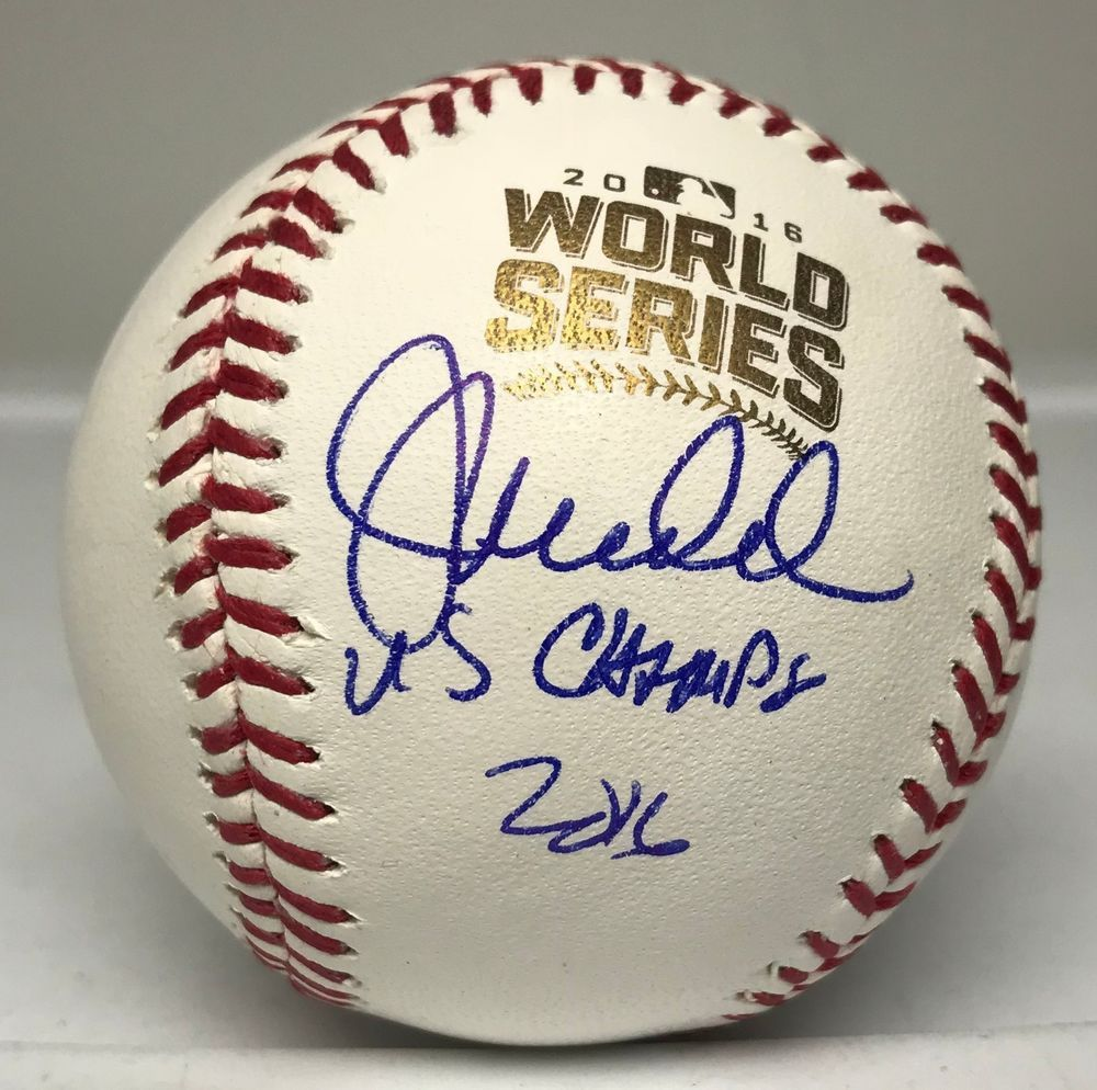 Baseball-mlb John Lackey Autographed Signed 2016 World Series Baseball Ball Beckett Bas Coa Buy One Give One Sports Mem, Cards & Fan Shop