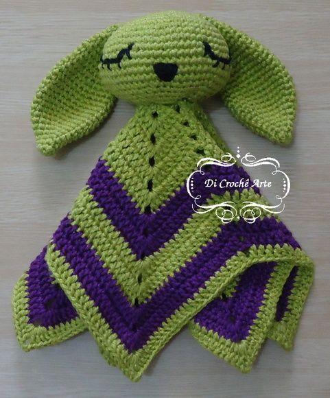 Tita Carré Agulha e Tricot : Naninha ou aconchego Coelha em crochet | 580x481