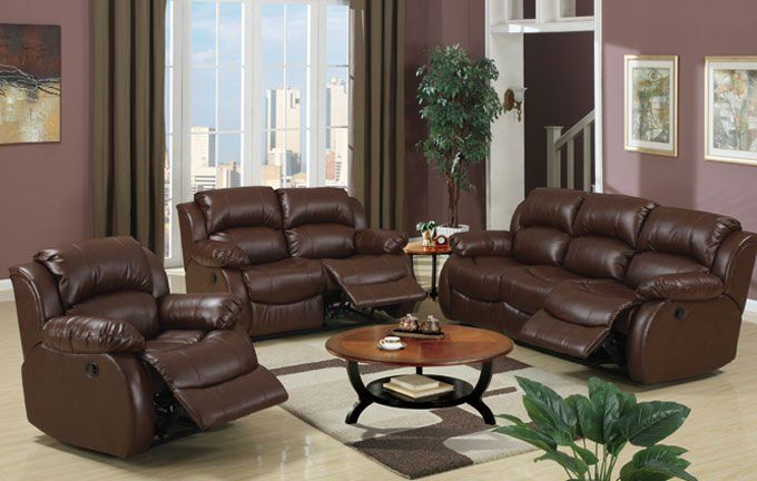 Sofá reclinable de cuero #furniture | Living room recliner, Living room leather, Leather living room set
