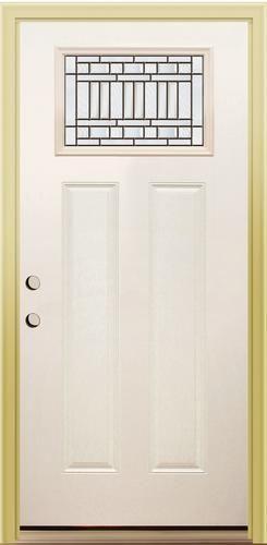 Memphis Rectangular Top Lite x Primed White Steel Prehung Exterior Door - Right Inswing  sc 1 st  Pinterest & Mastercraft® ME-214 Memphis Rectangular Top Lite 36