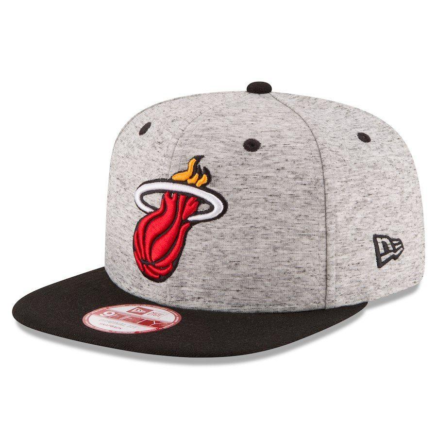 new product 6f06f 30593 Men s Miami Heat New Era Gray Black Current Logo Team Rogue 9FIFTY Snapback  Adjustable Hat,  29.99