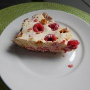 raspberry honeycomb ice cream pie