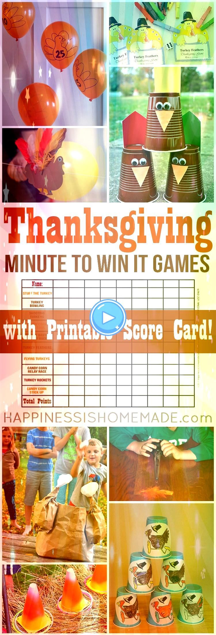 the best Thanksgiving dinner party ever with these fun Thanksgiving Minute  Host the best Thanksgiving dinner party ever with these fun Thanksgiving Minute   How fun is T...