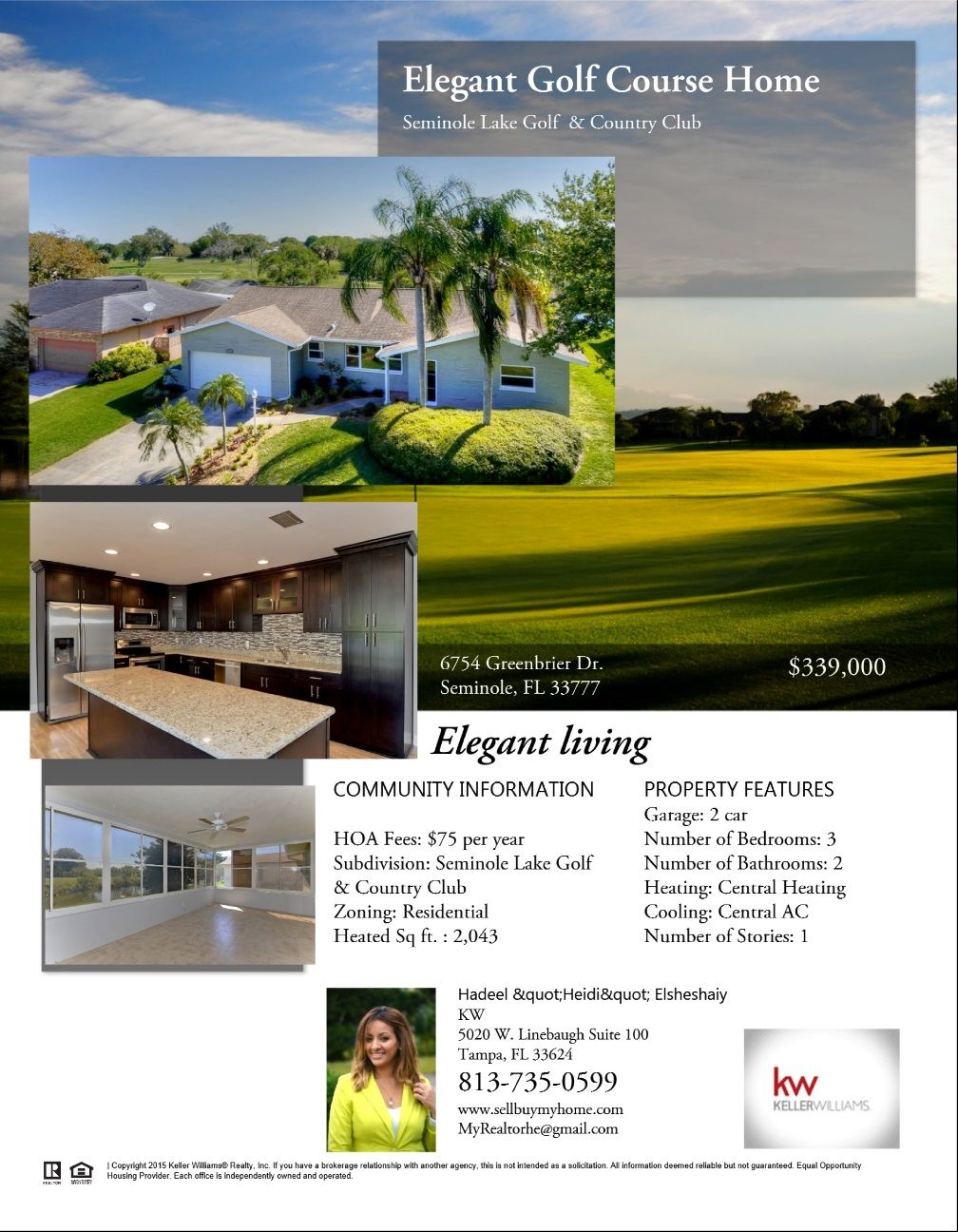 Beautiful Golf Course Home; homes, design, Real Estate, buyer, Florida