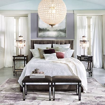 Devereaux Tufted Upholstered King Bed In View Otter And Hickory Beds Amp Headboards Bedroom