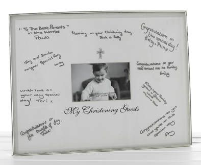 Write On Photo Frame Christening The Write On Photo Frame Is A