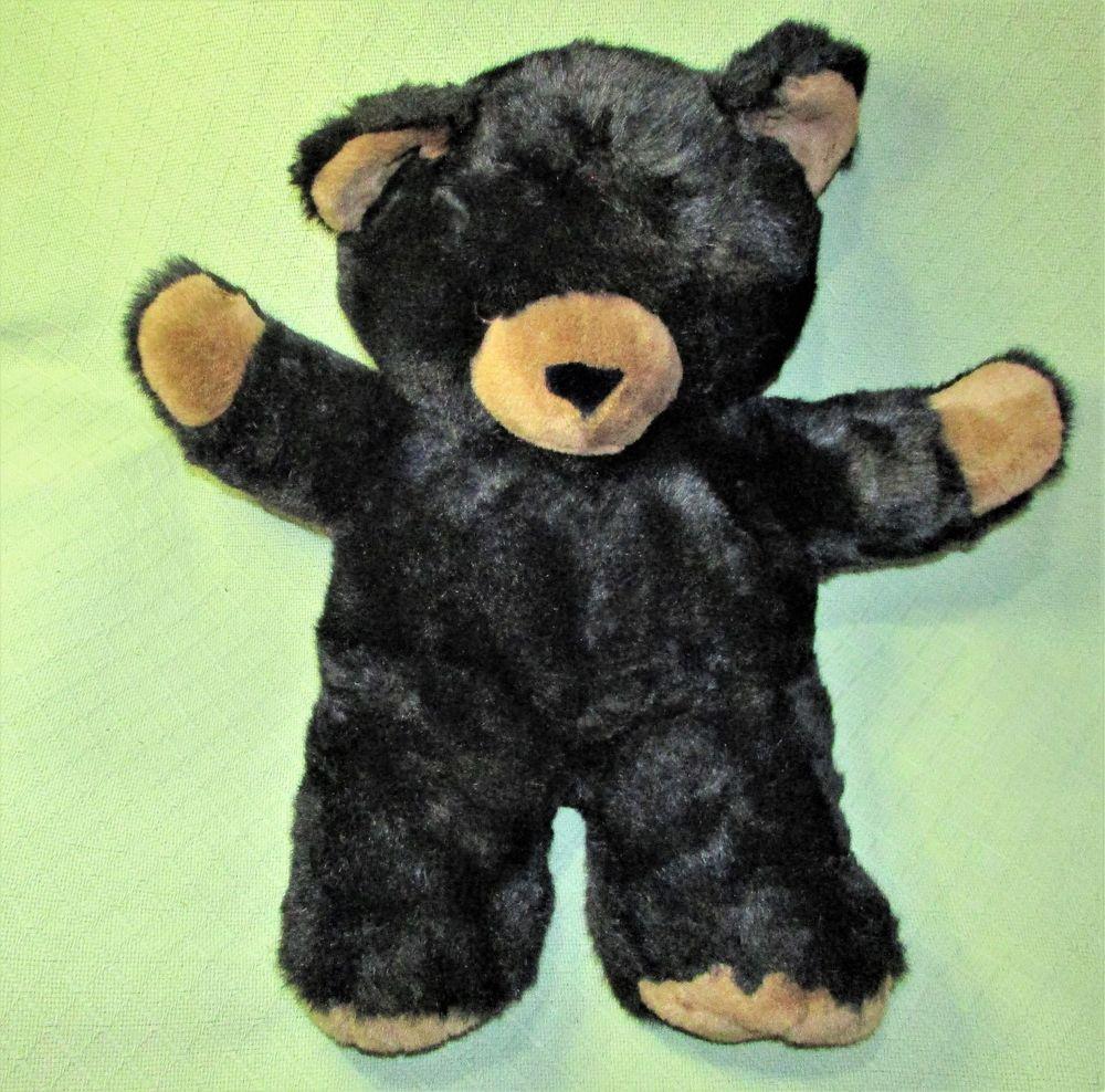 27 Vintage Commonwealth Teddy Bear Black Tan Paws Plush Stuffed