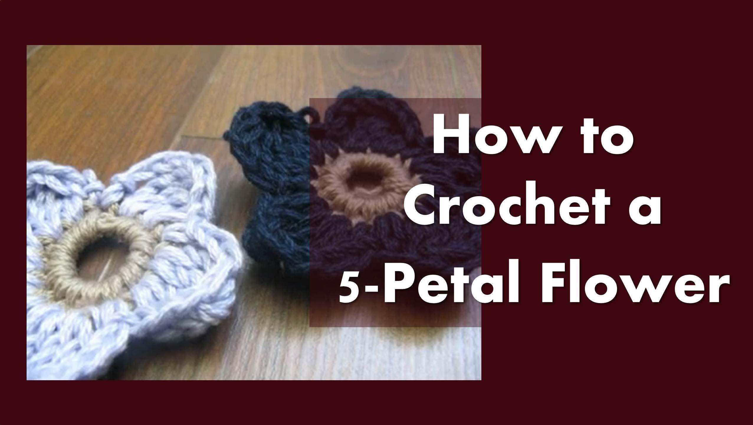 How to Crochet - Crochet a 5-Petal Flower ✿Teresa Restegui http://www.pinterest.com/teretegui/✿