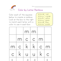Color By Letter Rainbow  Ot