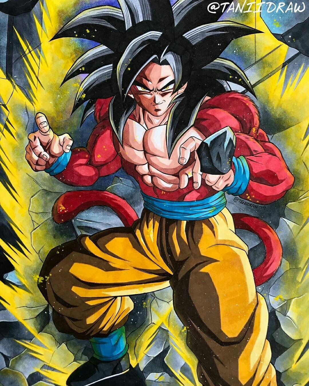 Goku Super Saiyan 4 Draw Dragon Ball Z Anime Dragon Ball