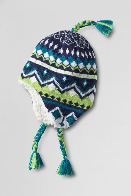 Kids' Fair Isle Peruvian Knit Hat from Lands' End | Crochet ...