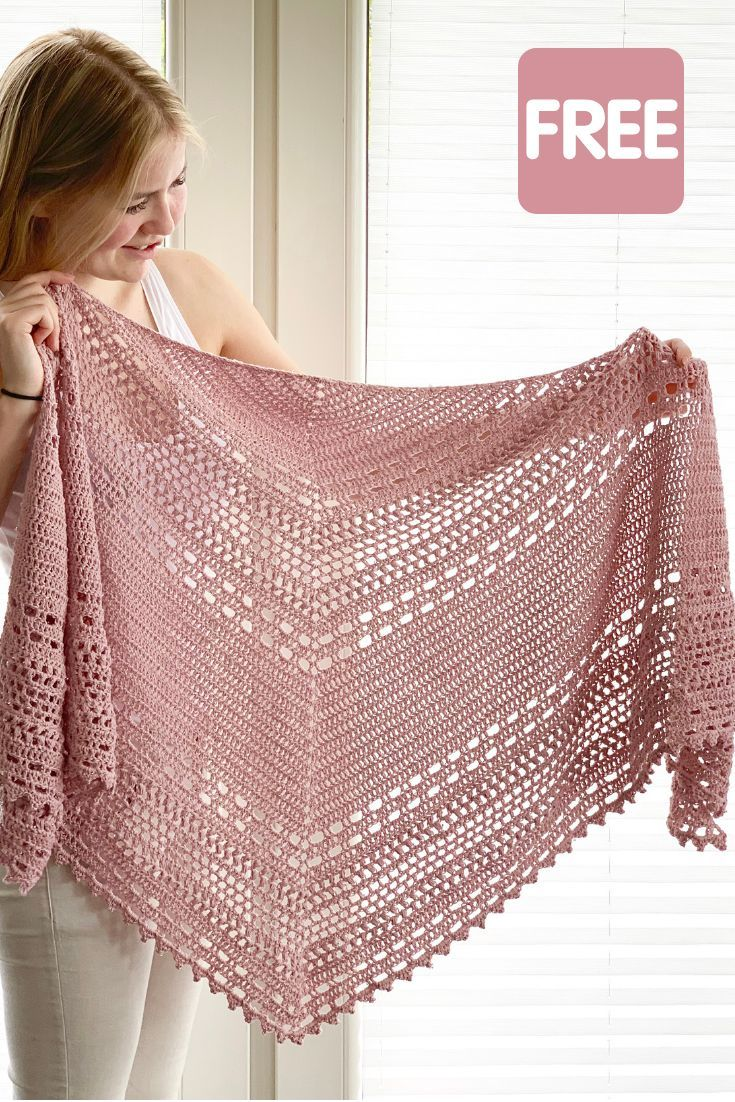 Photo of Crochet Shawl free pattern: Bella Vita Shawl by Wilmade