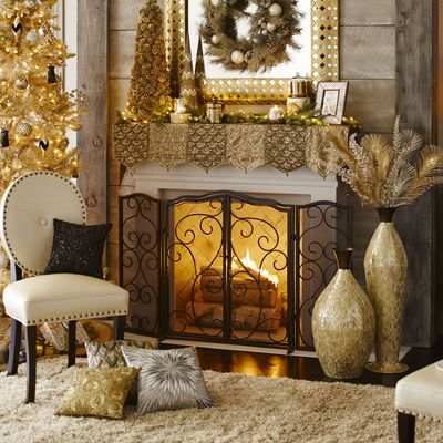 Scroll Fireplace Screen - Triple Panel at Pier One
