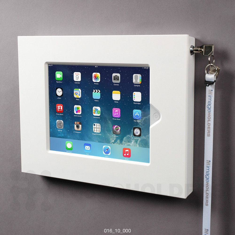 Slimline 10 Tablet Or Ipad Enclosure Wall Mount Tablet Tablet Kiosk Wall Tablet