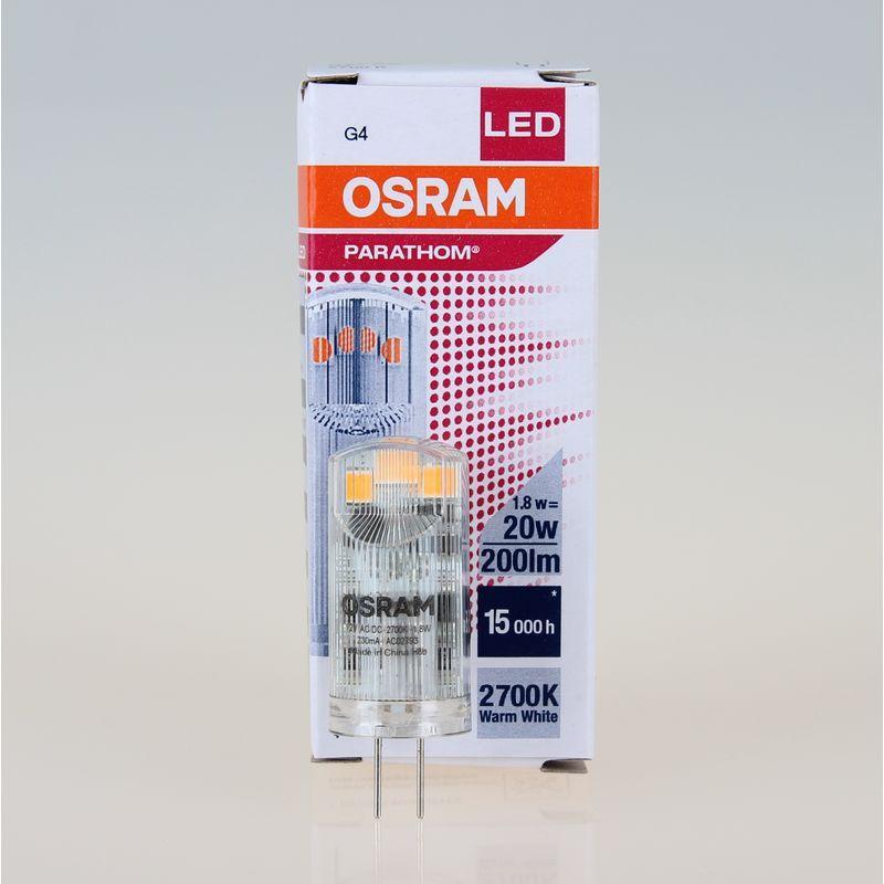 Osram Led Stiftsockellampe Parathom Pin G4 12v 1 8w 20w Warmweiss Osram Leuchtmittel Led Leuchtmittel